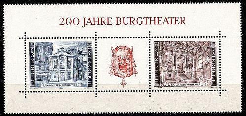ÖSTERREICH AUSTRIA [1976] MiNr 1507-08 Block 3 ( **/mnh ) Kunst