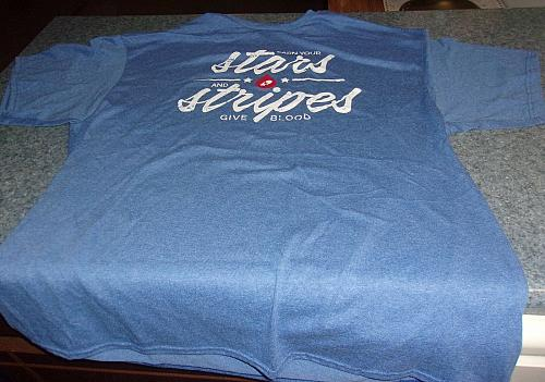 Brand New Patriotic Stars Stripes Tee Shirt Extra Extra Large For Rescue Charity