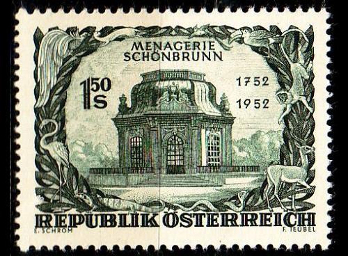 ÖSTERREICH AUSTRIA [1952] MiNr 0973 ( */mh ) Architektur