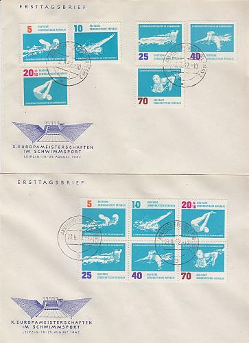 GERMANY DDR [1962] MiNr 0907-12 und 6er ( OO/used ) Sport Briefe