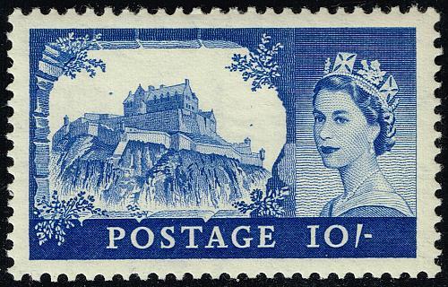 Great Britain #311 Edinburgh Castle; Unused (2Stars)  GBR0311-01XVK