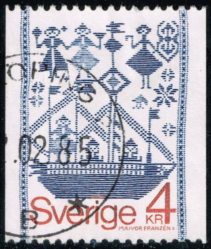 Sweden #1276 Drill-Weave Tapestry; Used (4Stars) |SVE1276-07