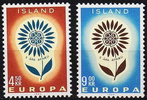 ISLAND ICELAND [1964] MiNr 0385-86 ( **/mnh ) CEPT
