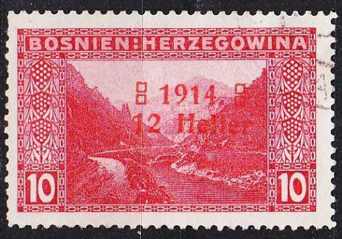 ÖSTERREICH AUSTRIA [BosHerz] MiNr 0090 II ( O/used )