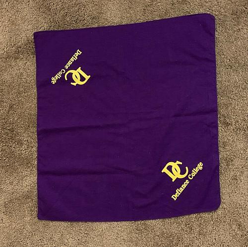 Defiance College Defiance Ohio Bandana Purple Gold 21 Inch For Rescue Charity