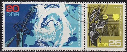 GERMANY DDR [1968] MiNr 1343 WZd187 ( OO/used ) Weltraum
