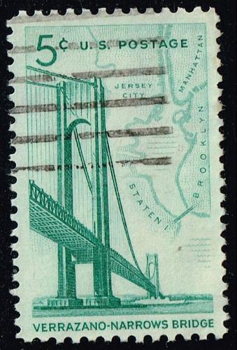 US #1258 Verranzo-Narrows Bridge; Used  USA1258-02