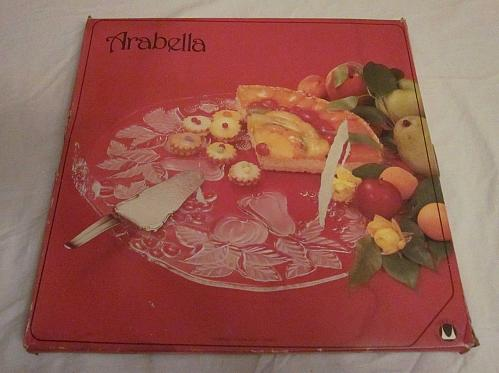 Arabella Vintage Crystal Glass Cake Plate