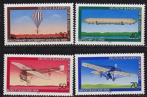 GERMANY BUND [1978] MiNr 0964-67 ( **/mnh ) Flugzeug