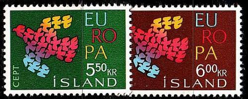 ISLAND ICELAND [1961] MiNr 0354-55 ( **/mnh ) CEPT