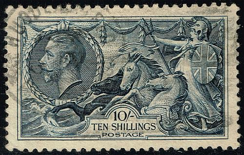 Great Britain #224 Britannia and Seahorses; Used (1Stars)  GBR0224-01XDP