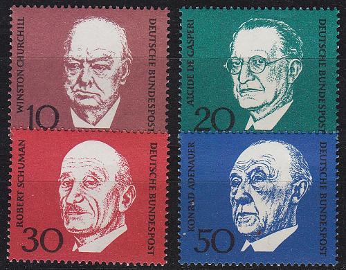 GERMANY BUND [1968] MiNr 0554-57 ( **/mnh ) Persönlichkeiten