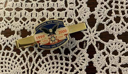 VFW 1999 2000 Tie Clasp Energizing Ohio Through Service and Sacrifice 4 Charity