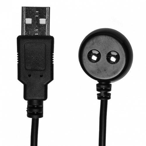 USB Magnetic Charger Cord (Optimale Vibrating Warming Stroker) Black DJ0100-54BU