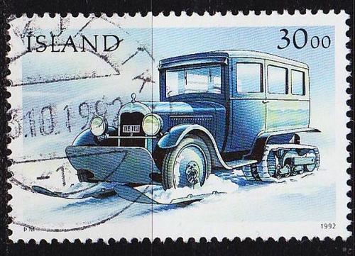 ISLAND ICELAND [1992] MiNr 0771 ( O/used ) Auto