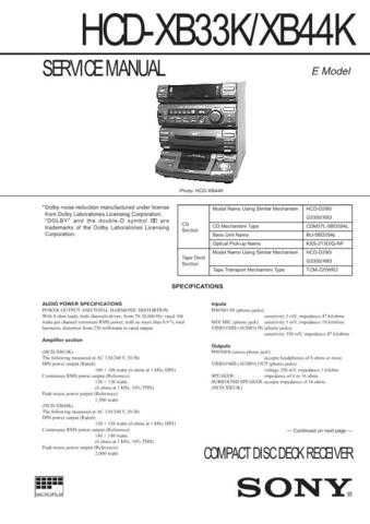 SONY HSTD307 MS WSM A3801 MTS Technical Info by download #104981