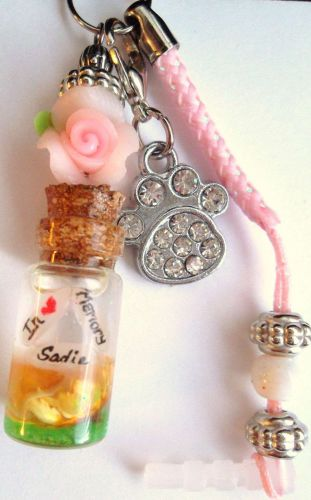 Personalized In Loving Memory Pets Name On Rice Cell Charm