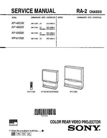 Sony KP-43T75 Manual by download Mauritron #229337