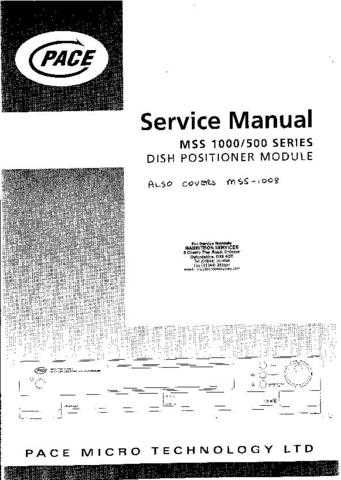 Sony SAT300, SAT301 Pace Equivalent Service (A-2950) Technical Info by download