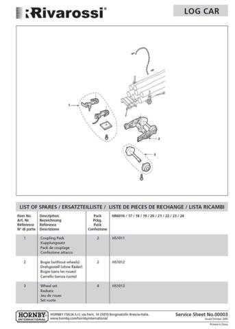 Rivarossi No.00003 Log Car Service Sheets by download Mauritron #206172