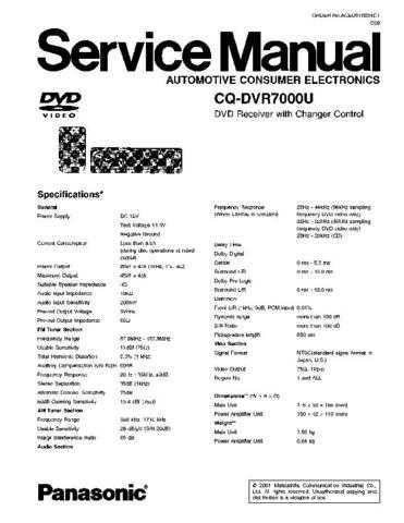 Panasonic CS-MC12DKK Service Manual with Schematics by download Mauritron #266504