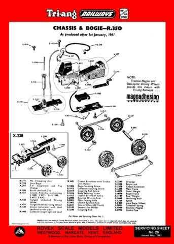 Triang Tri-ang No.029 Chassis and Bogie R350 Service Sheets by download Mauritr