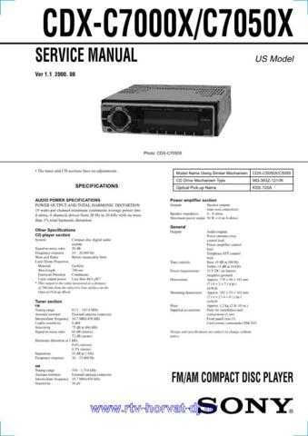 Sony CDX-C590Service Manual by download Mauritron #237595