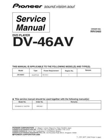 Pioneer DV393 Manual by download Mauritron #227625