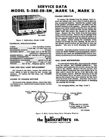 HALLICRAFTERS S38E WSM Technical Information by download #115335