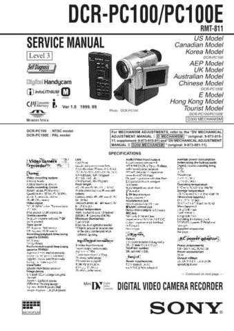 SONY D-T101 Technical by download #104886