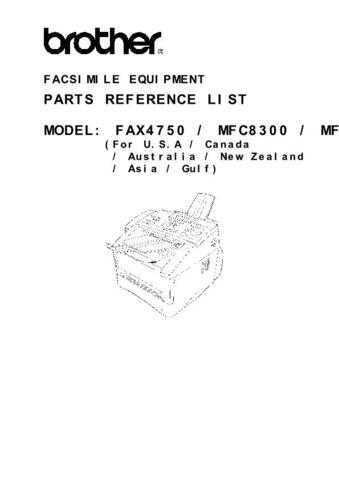 BROTHER fax4750-partlist- by download #100695