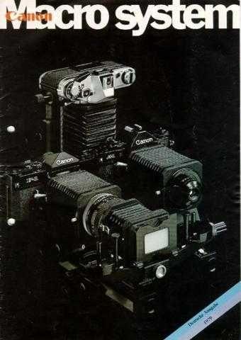 CANON 1979MACROSYSTEMDEUTSCH FD CAMERA INSTRUCTIONS by download #118392