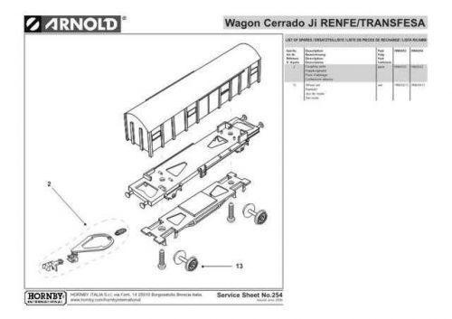 Arnold No.254 Wagon Cerrado Ji RENFE - TRANSFESA HN6053 Information by download