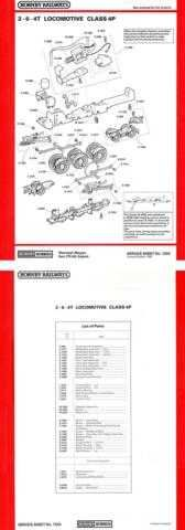 Hornby No.122A 2-6-4T Class 4P Service Sheets by download Mauritron #206849