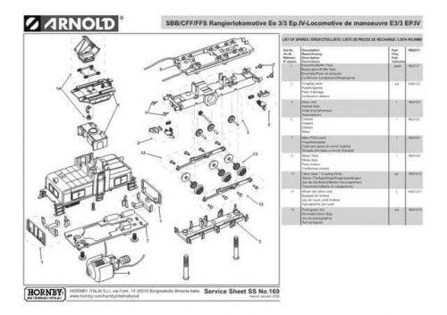 Arnold No.169 SBB-CFF-FFS Rangierlokomotive Ee 3-3 Ep.IV-Locomotive de manoeuvre