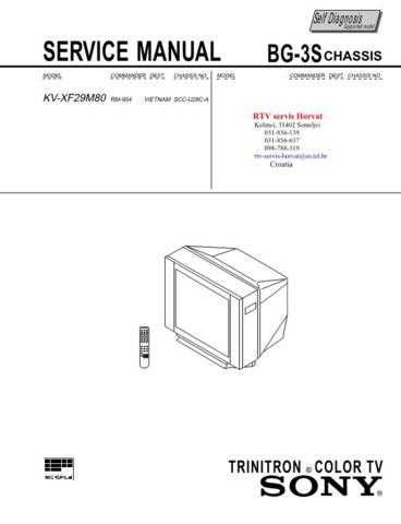 SONY KVXF29M80 CHASSIS BG3S Technical Info by download #104803