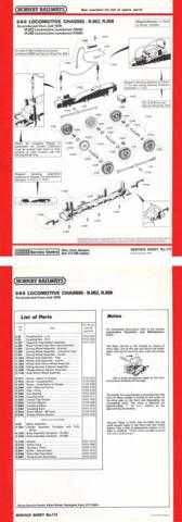 Hornby No.113 0-6-0 Loco Service Sheets by download Mauritron #206837