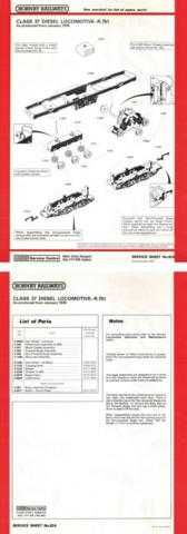 Hornby No.092A Class 37 Service Sheets by download Mauritron #206810