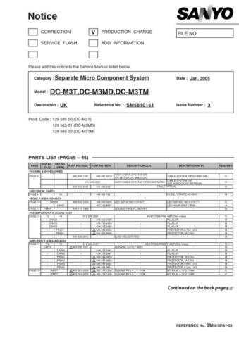 Fisher DC-M3T MD TM-03 Service Manual by download Mauritron #215355