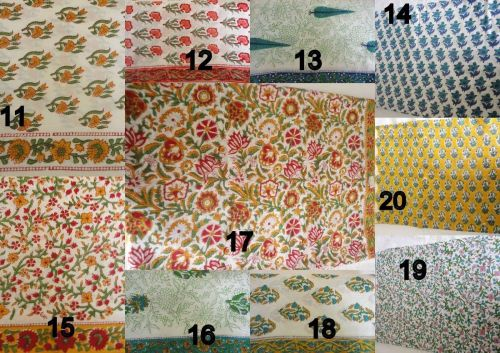 25yards wholesale lot Indian hand 100% cotton fabric hand indian cotton fabric