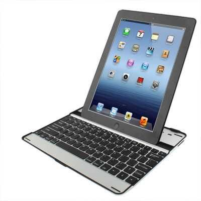 Wireless Aluminium Bluetooth 3.0 Keyboard Case for New iPad