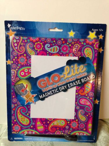 Magnetic glo-light dry erase board for lockers