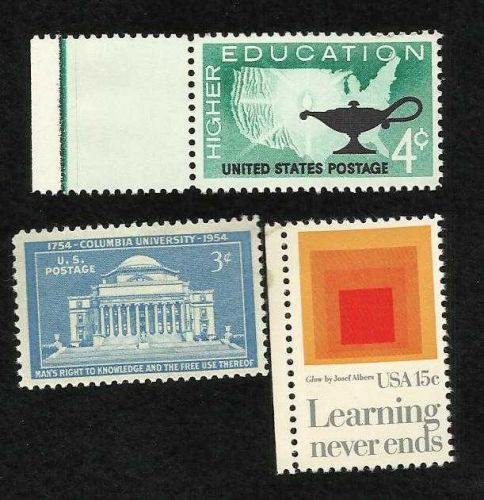 Collection of 3 MNH US Education Stamps