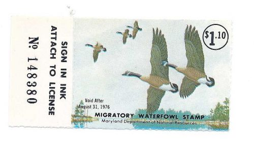 MD2 1975-76 MARYLAND STATE DUCK STAMP, MNH, FREE SHIPPING!