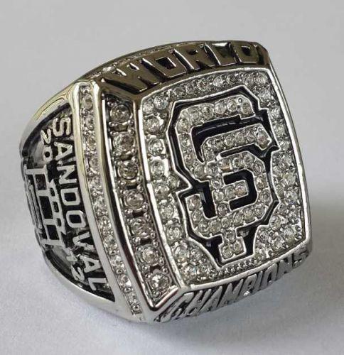 2012 San Francisco Giants MLB Baseball Championship Ring size 11 US Sandoval
