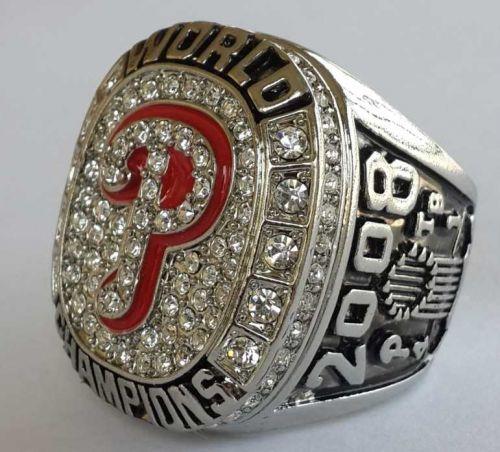 2008 Philadelphia Phillies MLB Baseball Championship Ring size 11 US Player Howa