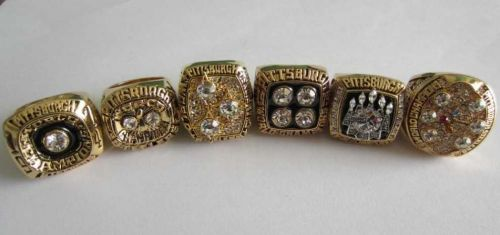 ASet NFL Pittsburgh Steelers IX X XIII XIV XL XLIII Super Bowl Championship ring