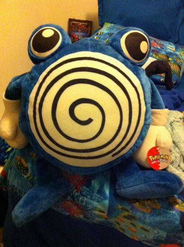 """Giant #61 Poliwhirl Pokemon Plush Play-by-Play 25-28"""" Tall Plush Toy NWT"""