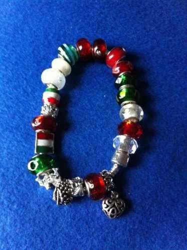 """European Charm Silver Tone Bracelet ITALY THEME Sz 9"""""""