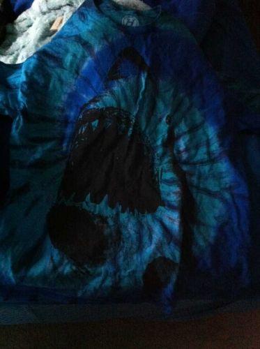 Great White Shark Blue Tie Dye Mens Sz Large L